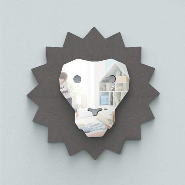 miroir lion face